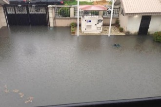 Houses in VGC,Lagos flooded