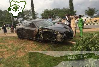 [VIDEO NEWS] Son Of Former AGF Crashes N40m Porsche Car While Racing With Friends In Abuja (PHOTOS)