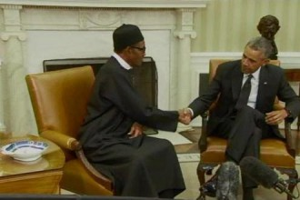[PHOTO NEWS] President Buhari meets President Obama