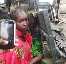 [PHOTO NEWS] Female suicide bomber apprehended after failed suicide attempt in Cameroon