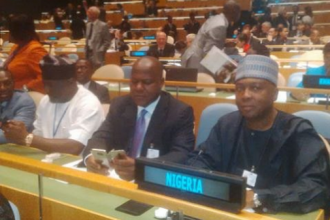 [PHOTO NEWS] Saraki,Dogara at the UN Conference of Parliamentary Heads