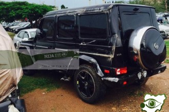 [PHOTO NEWS] Akpabio escapes death in auto crash