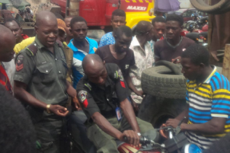 [PHOTO NEWS] Drunk Police Officer in Lagos