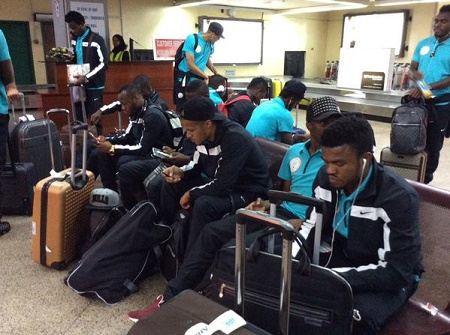 [PHOTO NEWS] Super Eagles Arrive Tanzania Ahead of AFCON Qualifiers