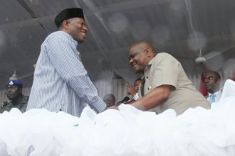 [PHOTO NEWS] Governor Wike meets former President Jonathan