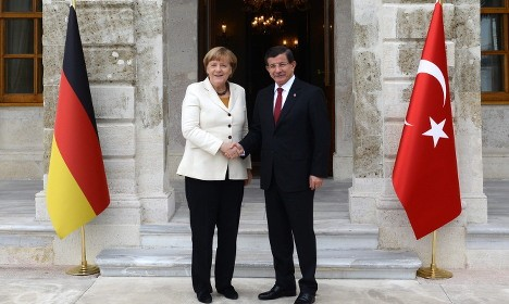 [SYRIA REFUGEES] Angela Merkel in Turkey for refugee talks