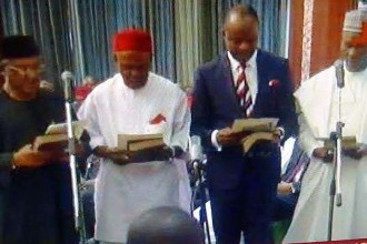 [BREAKING] Buhari swears-in Ministers and assigns Portfolios (FULL LIST & MINISTRY)
