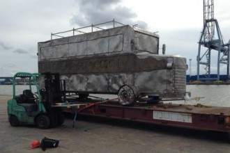 [PHOTO NEWS] Nigeria Returns to Dictatorship,as Ken Saro-Wiwa's memorial art bus seized by Nigeria Customs
