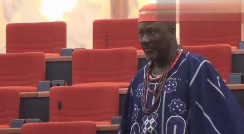 [VIDEO] Nigerian Senators playing on the floor of the Senate (SHAMEFUL)