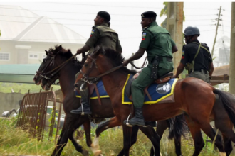 [PHOTO NEWS] Military officers take over Bayelsa State ahead of Election today