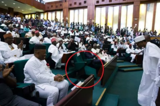 [PHOTO NEWS] Broken Seat At the National Assembly during Buhari Budget presentation-#BlameGEJ