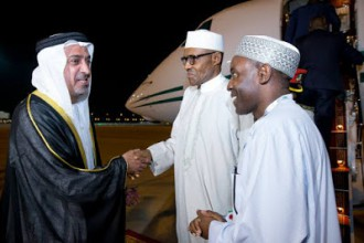 [PHOTO NEWS] Buhari arrives Abu Dhabi ahead of the World Future Energy summit