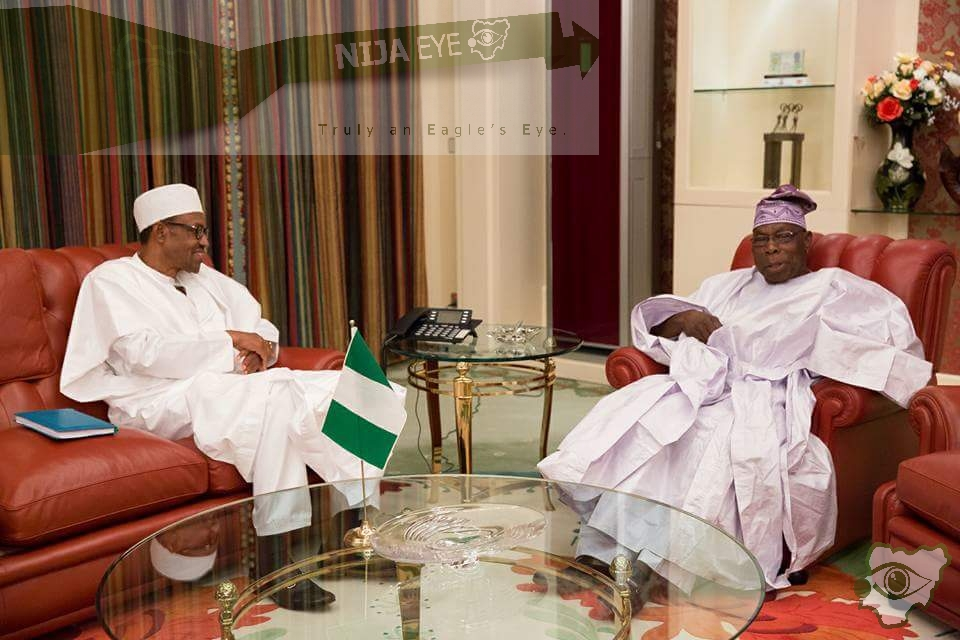 [PHOTO NEWS] Buhari consults Obasanjo on Niger Delta Crisis