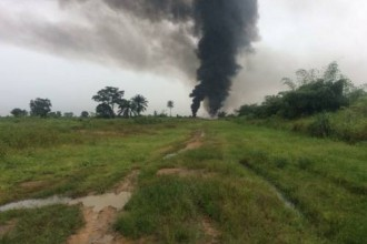 [BREAKING] Explosion Rocks Shell Facility In Ogoniland (PHOTOS)