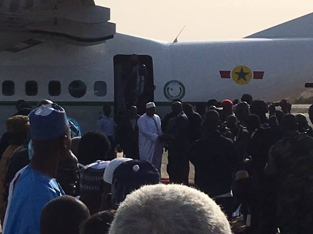 Gambian President Barrow returns Home