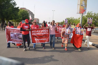 [PHOTO NEWS] 1000 Days,#CHIBOK Girls not yet found,#BBOG Protests in #Abuja