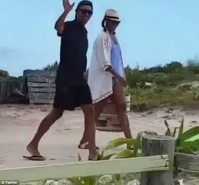 [VIDEO] Obama & Wife spotted at British Virgin Islands with Richard Branson