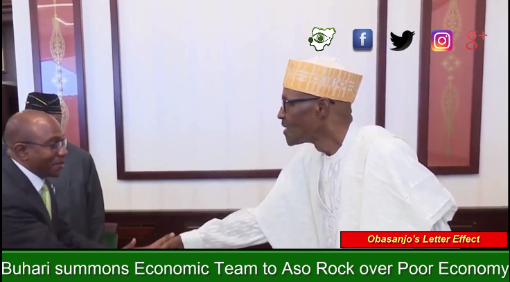 [VIDEO] Buhari's Economic team Adeosun, Emefiele, Udoma summoned to Aso Rock over poor economy (OBASANJO EFFECT)