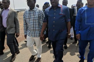 Wike pays SOLIDARITY VISIT to BENUE STATE