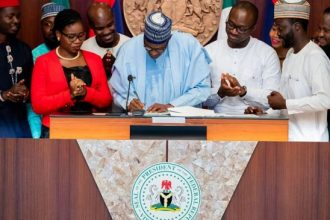 "Buhari signs ""Not Too Young To Run"" bill"