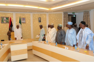"[BREAKING] Senate President Saraki ""Conspicuously"" absent as Buhari meets APC senators"