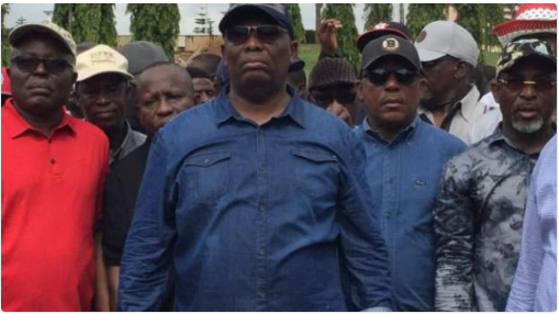 PDP Chairman, Secondus leads protest to NASS