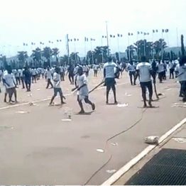 Buhari Supporters clash at Eagle Square over N200m released for mobilization