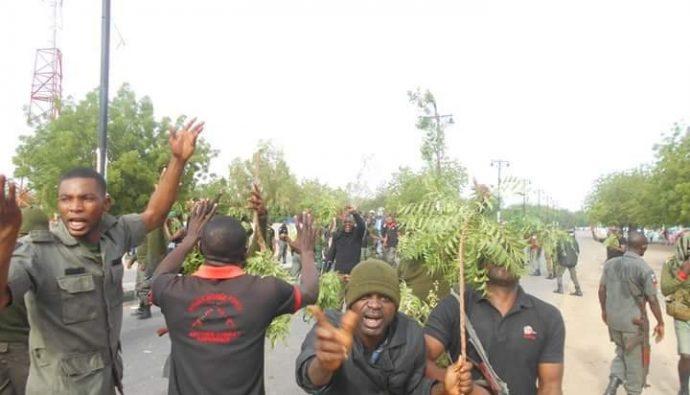 Police men in Maiduguri protest none Payment of Salary