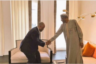 Akpabio visits Buhari in London, negotiates Soft landing