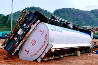 Container truck crushes 2 to death in Ogun State