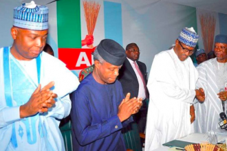 Oshiomole accuses Saraki of treason against Nigeria