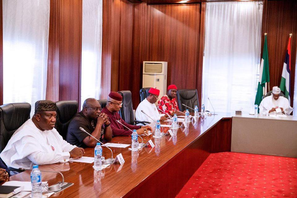 Deputy Senate President Ekweremadu, South East Governors meet Buhari
