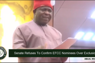 [VIDEO] #Chaos in #Senate, #PDP Senators Refuses To Confirm Buhari's EFCC Nominees Over Exclusion Of South-East/South-South