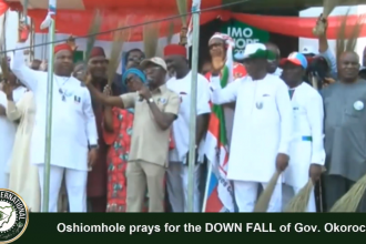 #APC National Chairman #Oshiomhole & other APC Leaders pray for the #DOWNFALL of Gov. Rochas #Okorocha of #Imo State