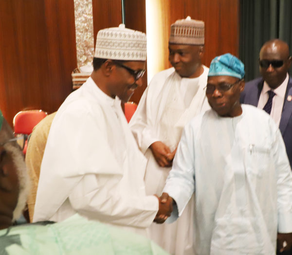 [BREAKING] #Buhari meets #Obasanjo behind closed doors, before #NCS Meeting