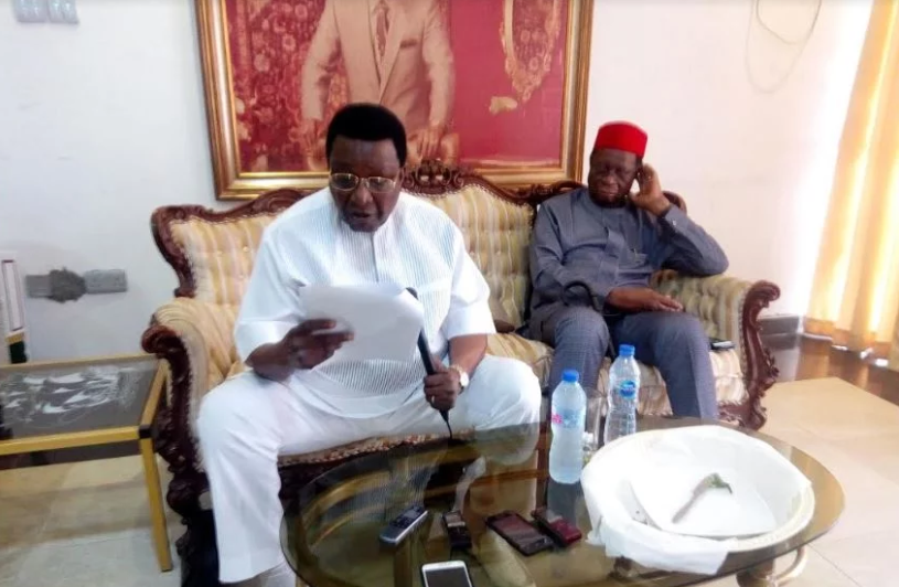 Ex-Gov Jim #Nwobodo dumps #APC for #PDP, gives reasons