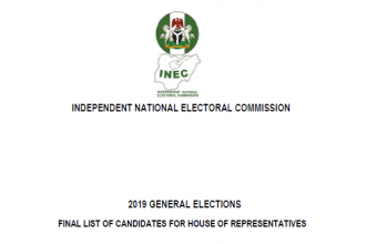 #INEC releases names of House of Reps candidates nationwide [Full list]