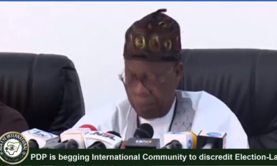 #PDP has sent a delegation to US, UK to discredit elections -Lai Mohammed