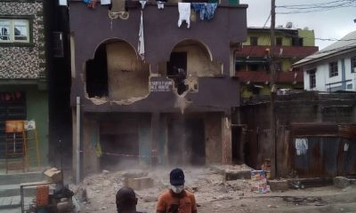 Lagos begins demolition of buildings after Itafaji tragedy (PHOTOS)