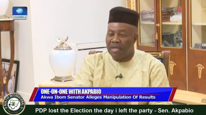 #PDP Lost The Presidential Election The Day I Left The Party – Sen. #Akpabio