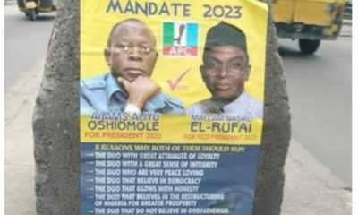 (2023 PRESIDENCY) #Oshiomhole, #El-Eufai presidential campaign poster emerges (PHOTO)