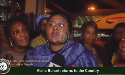 "[VIDEO] ""I was away for a long time based on Doctors instruction, i am well now but i still need more rest"" - Aisha #Buhari explains as she returns to Nigeria"