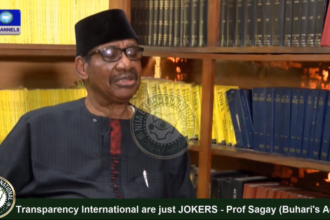 [VIDEO] #Transparency International are just JOKERS - Prof Itse #Sagay (#Buhari's Adviser)