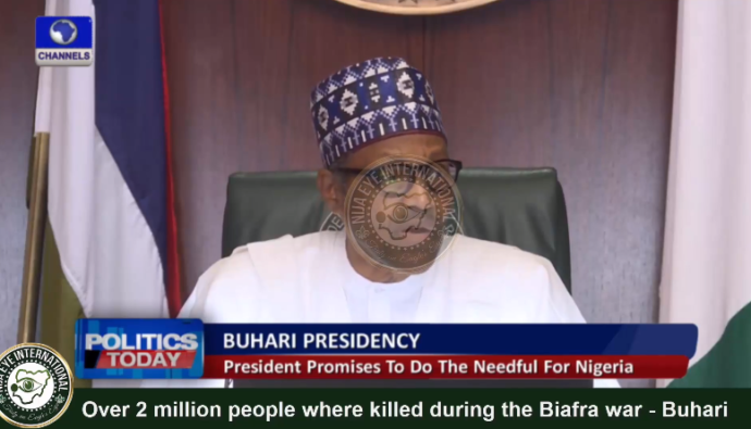 [VIDEO] Over 2 million people died during the #Biafra civil war - #Buhari