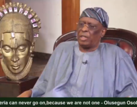 [VIDEO] #Nigeria cant go on, because we are not one! - Olusegun #Osoba (Former #Governor of #Ogun State)