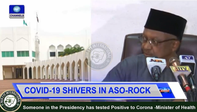 [VIDEO] Someone in the Aso Rock has tested Positive to Corona - Minister of Health