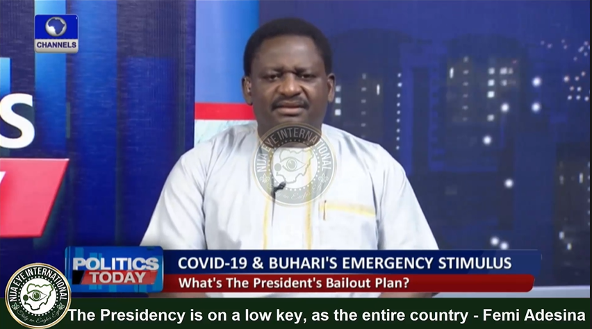 [VIDEO] The #Presidency is on a Low Key because of the #CORONA, just like the entire country is on #SHUTDOWN - Femi #Adesina, #Buhari's Media Aide