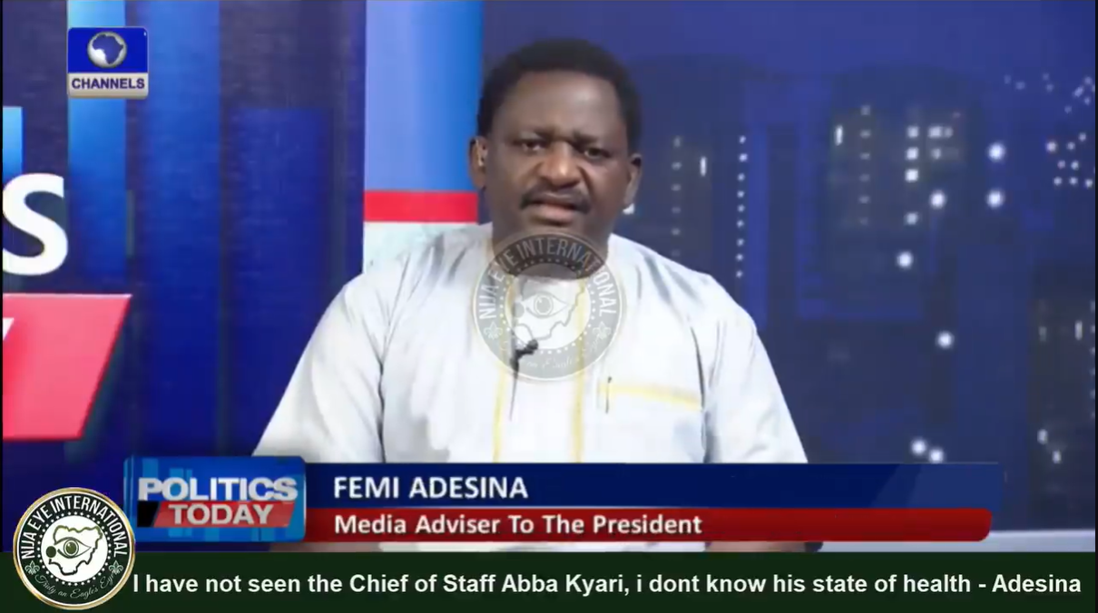 [VIDEO] I have not seen the Chief of Staff to the President Abba #Kyari so i dont know his state of health - Femi #Adesina, Media Aide to #Buhari