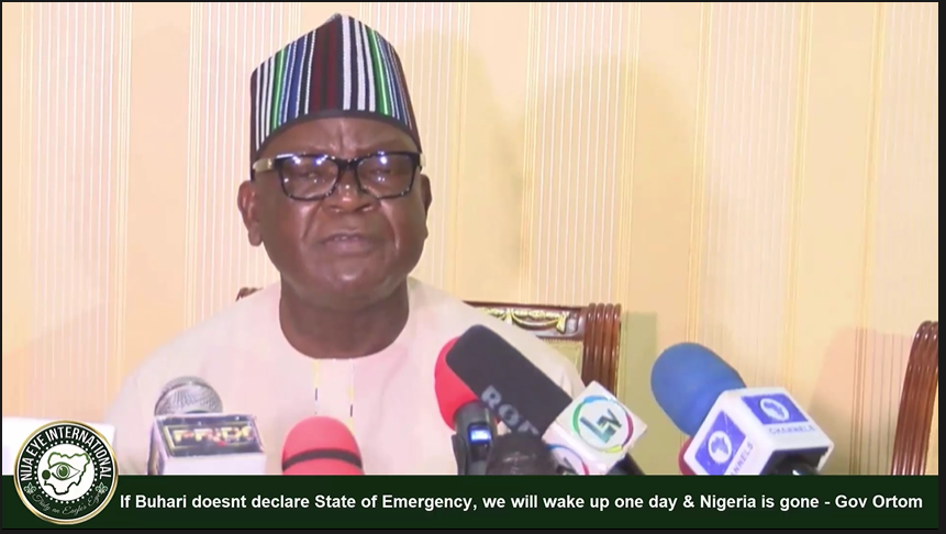 [VIDEO] If #Buhari doesnt declare State of Emergency, we will wake up one day & #Nigeria is gone - Gov #Ortom of Benue cries out